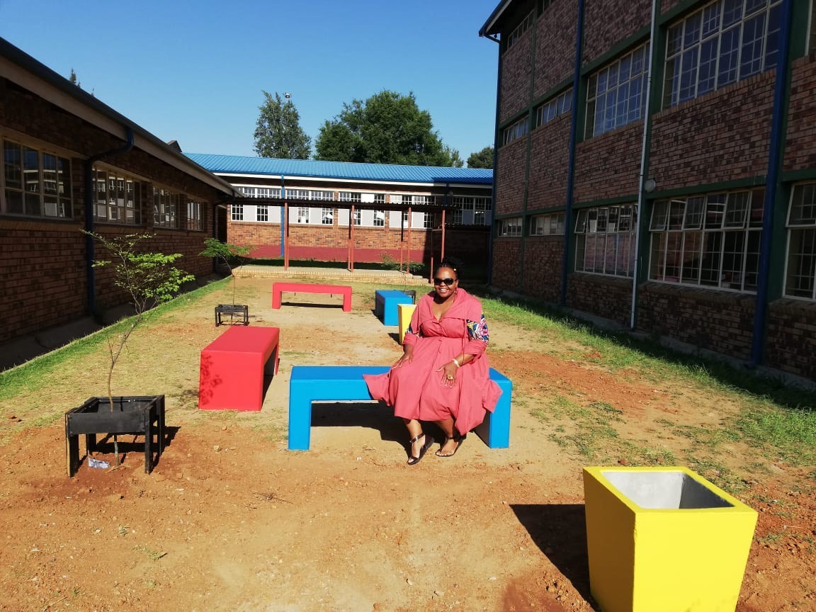 Sponsorship of Student Area at Tlhatlogang School